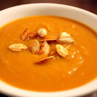Smoky and Sweet Roasted Pumpkin Soup