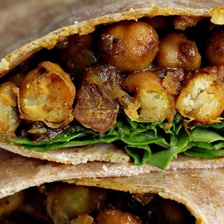 West Indian-Style Channa Wrap.