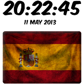 Spain Digital Clock