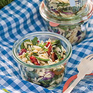 Spinach and Orzo Salad.