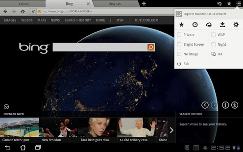 Maxthon Browser for Tablet - screenshot thumbnail