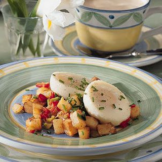 Home Fries with Poached Eggs