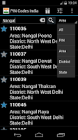 Screenshot of Pincodes India Offline
