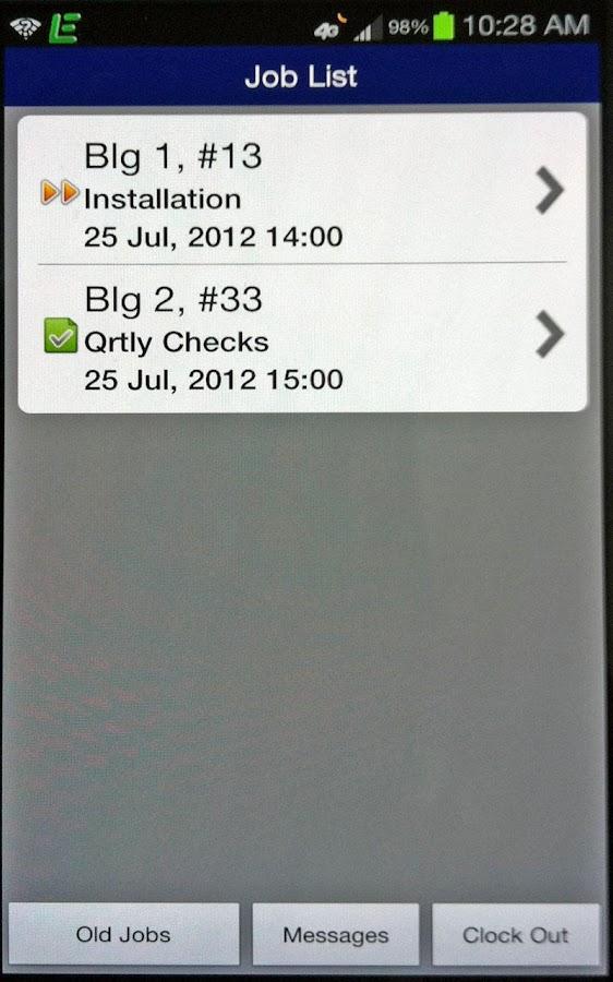 EService GPS- screenshot