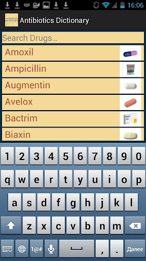 Antibiotics Dictionary