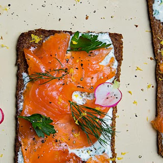 Open-Faced Smoked Salmon Sandwich.