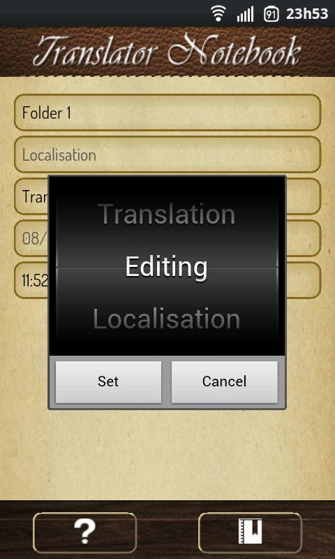 Translator Notebook- screenshot