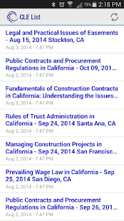 California CLE List- screenshot thumbnail