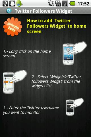 Followers Widget for Twitter - screenshot