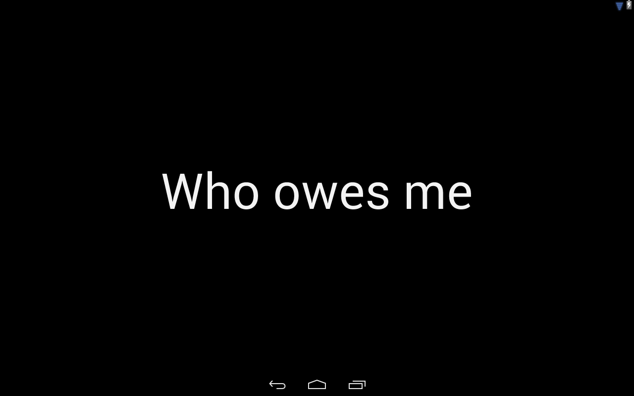 Who owes me?- screenshot