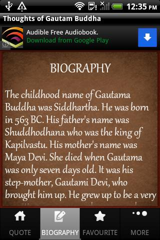Thoughts of Gautama Buddha - screenshot