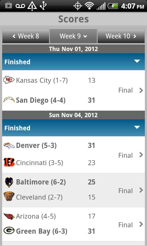 Sporting News Pro Football - screenshot