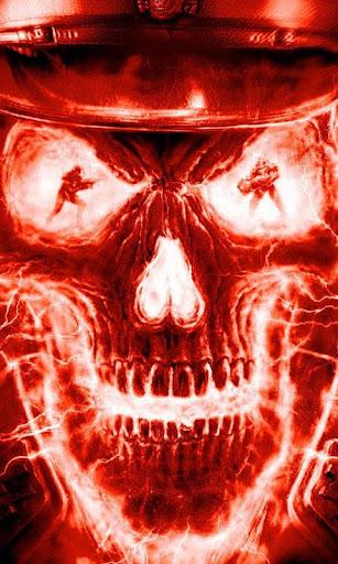 火災の頭蓋骨は 壁紙を生きる