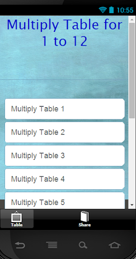 Multiply Table