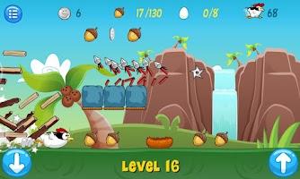 Screenshot of Ninja Chicken Ooga Booga