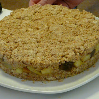Layered Cake with Nougat Topping