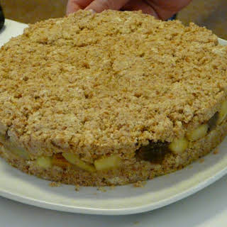 Layered Cake with Nougat Topping.