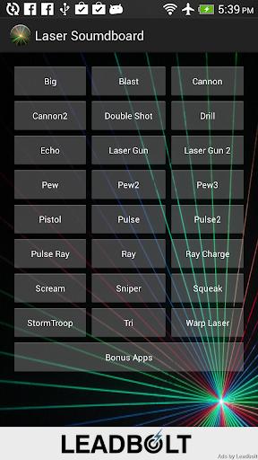 Laser Soundboard