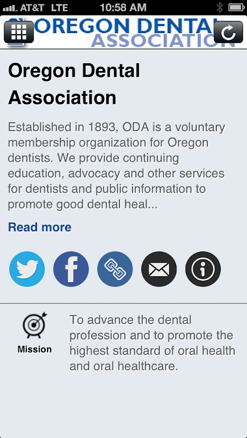 Oregon Dental Ass'n - screenshot