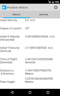 Projectile Motion Calculator- screenshot thumbnail