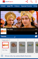 Screenshot of Aircel Mobile TV Live Online
