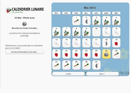 Calendrier lunaire du jardin applications android sur - Jardin biodynamique calendrier lunaire ...