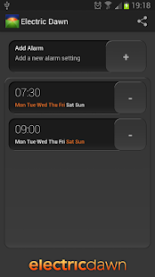 Electric Dawn - Alarm Clock - screenshot thumbnail