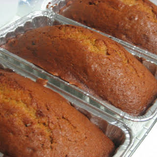 Pumpkin Bread with Raisins.