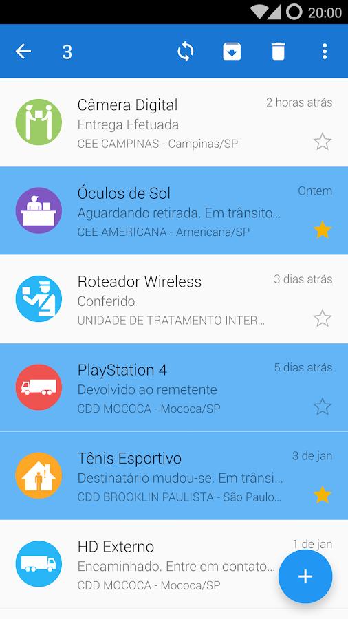 Carteiro - Rastreio Correios- screenshot