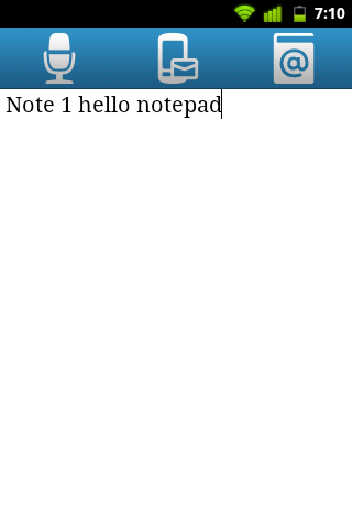 Qnote - simple notepad- screenshot
