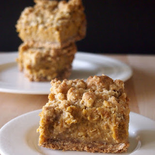Pumpkin Pie Crumb Bars #SundaySupper