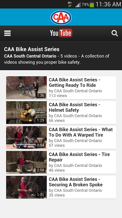 CAA Ontario Bike Assist- screenshot