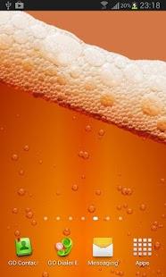 Beer & Battery level LWP Pro screenshot