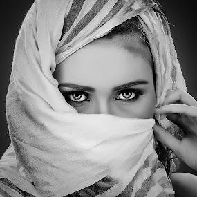 The Eyes by Abie Akbar - Black & White Portraits & People