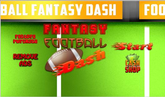FOOTBALL FANTASY DASH