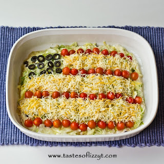Patriotic Layered Taco Dip.