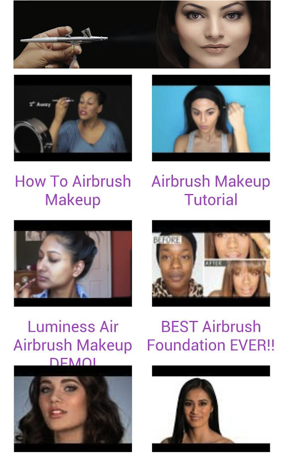 Airbrush Makeup Tutorials - screenshot