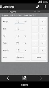 Diet Weight Diary Body Log