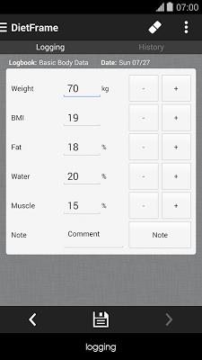 Diet, Weight Diary, Body Log - screenshot