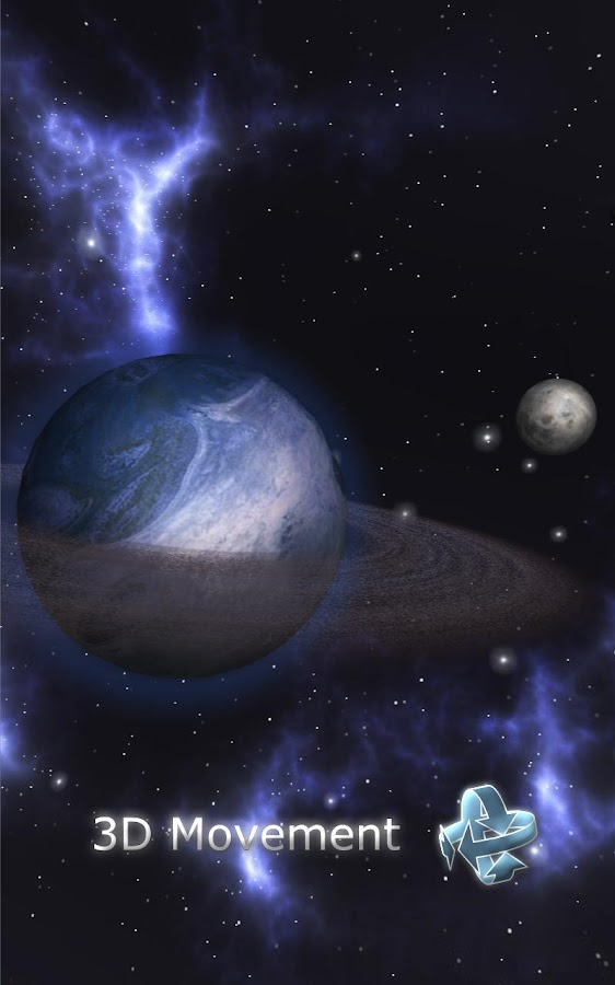 GyroSpace 3D Live Wallpaper - screenshot
