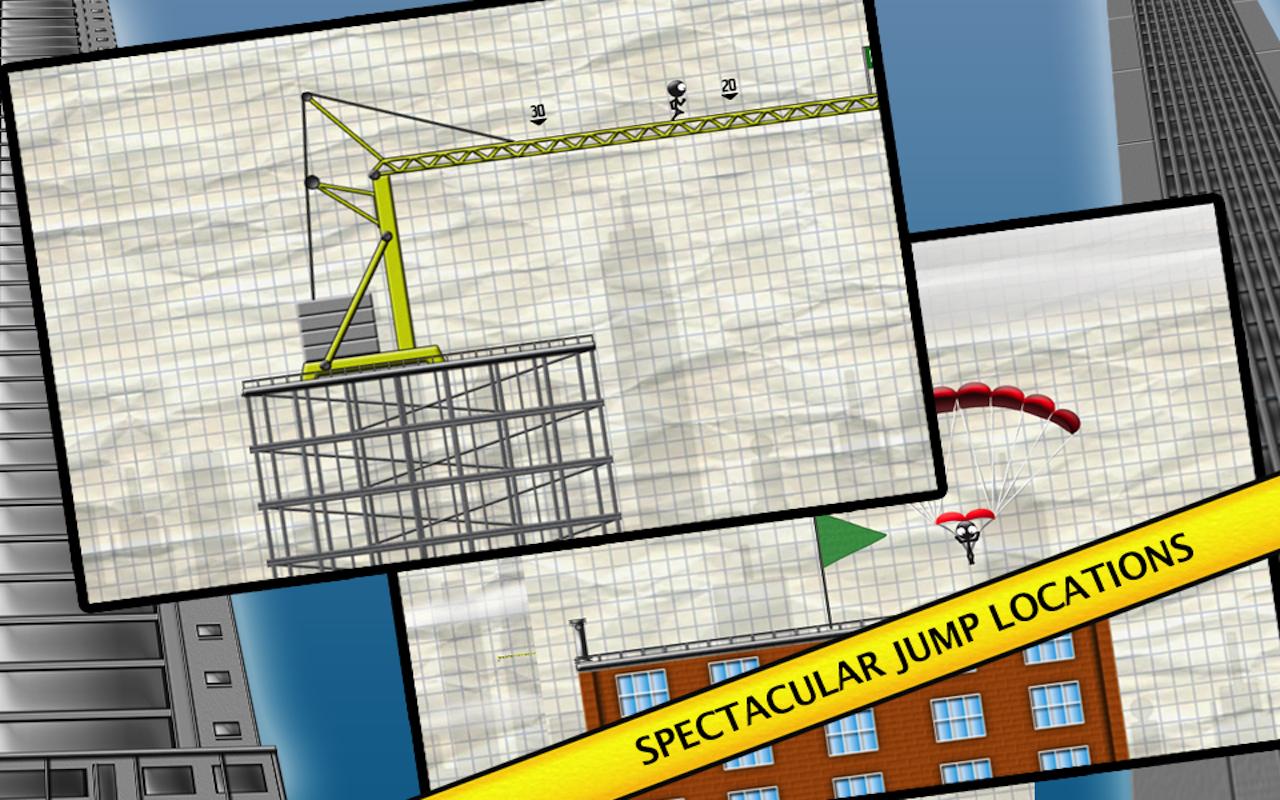 Stickman Base Jumper screenshot #7