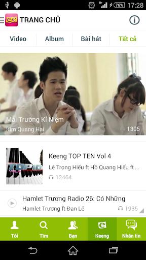 Keeng: Mạng xã hội âm nhạc