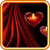 Heart n Candle live wallpaper