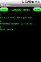 Screenshot of Command Notes