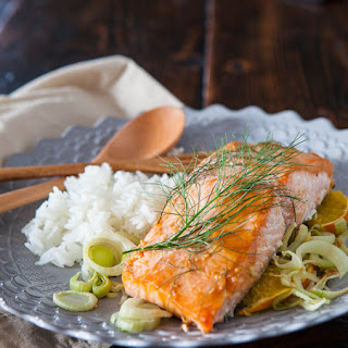 Miso Salmon with Orange and Fennel.