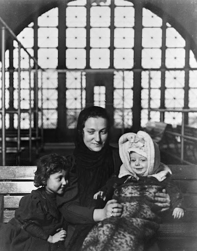 A Russian Family Group at Ellis Island