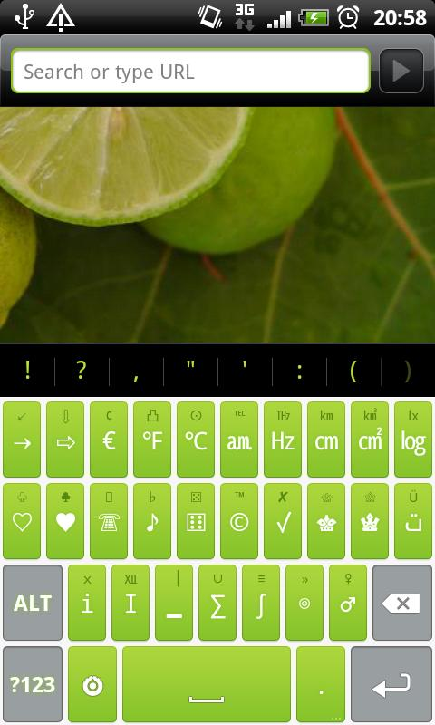 Lime Pro - HD Keyboard Theme - screenshot