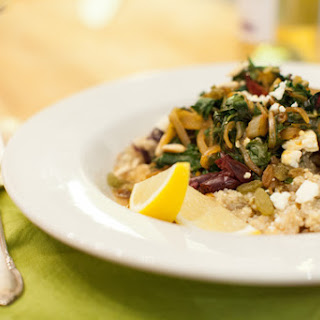 Ligurian Chard with Pine Nuts and Feta