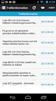 Screenshot of Tidtabellen Väst