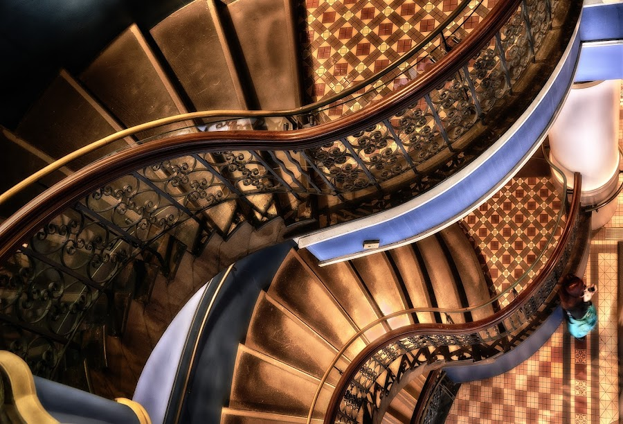 QVB Stairs by Jim Merchant - Buildings & Architecture Architectural Detail ( building, famous place, stairs, queen, victoria, architecture, historic )
